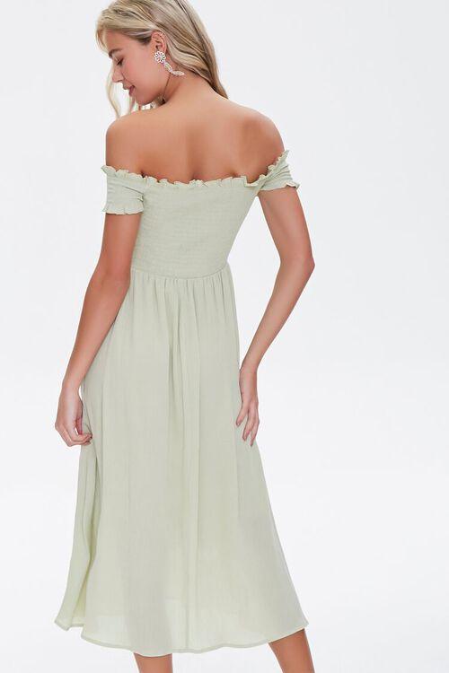 Smocked Off-the-Shoulder Dress, image 4