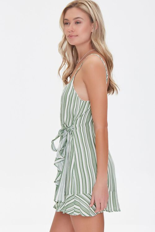 Striped Faux Wrap Dress, image 2