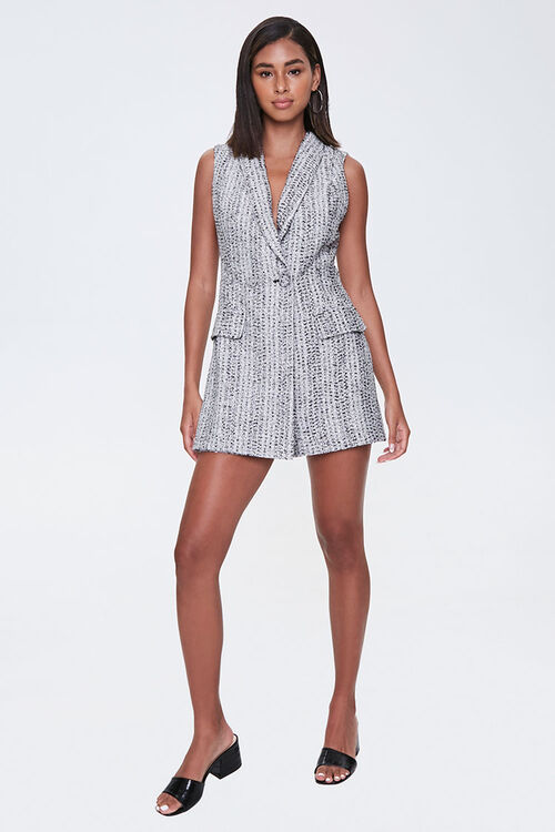 Tweed Double-Breasted Romper, image 4