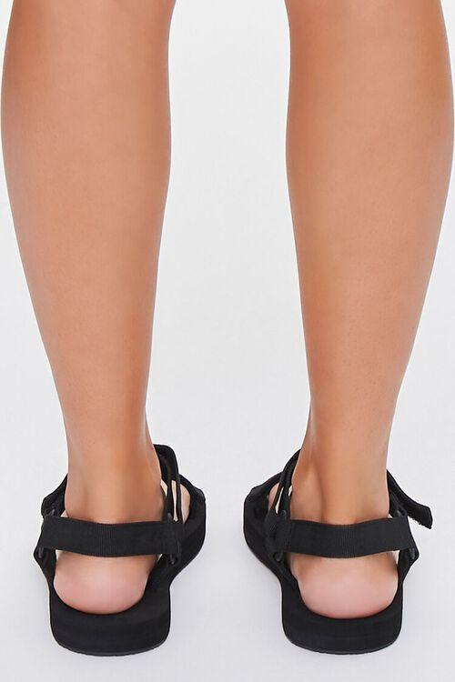 BLACK Strappy Flatform Sandals, image 3
