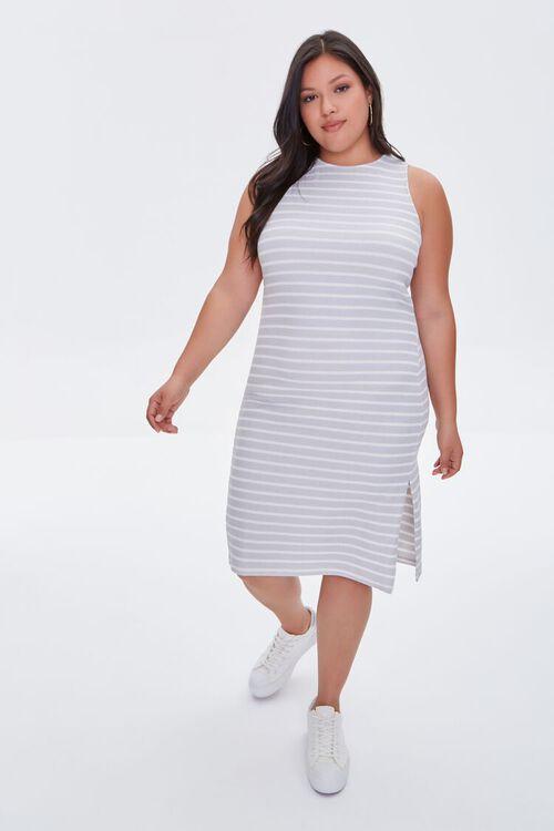 Plus Size Striped Tank Dress, image 4