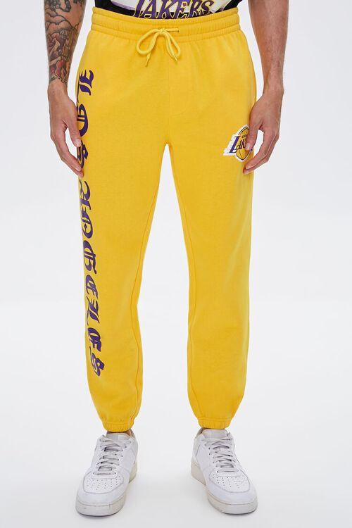 YELLOW/PURPLE Lakers Graphic Fleece Joggers, image 2