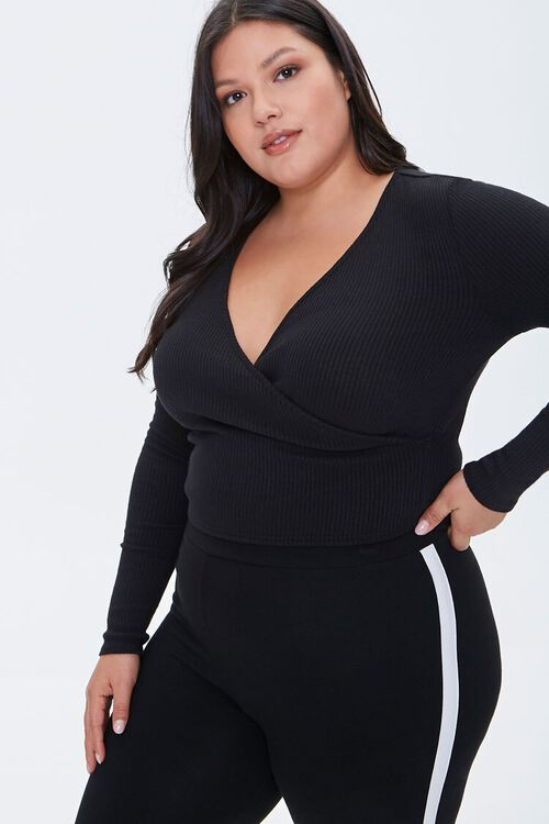 Plus Size Crossover Crop Top, image 1