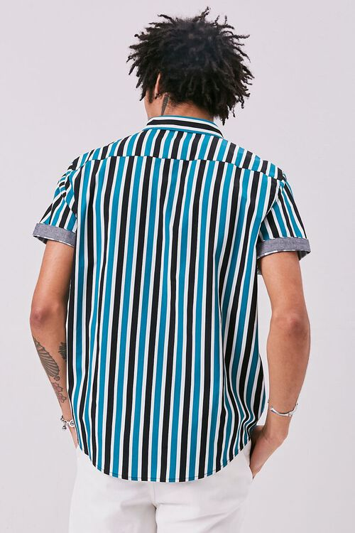 Striped Print Fitted Shirt, image 3