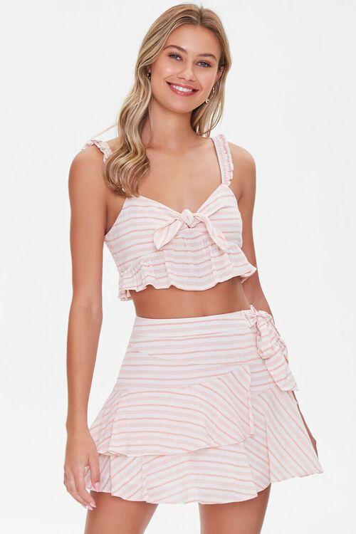 Striped Flounce Mini Skirt, image 6