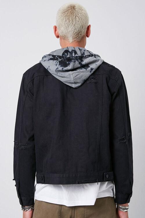 Tie-Dye-Hooded Stonewashed Denim Jacket, image 3