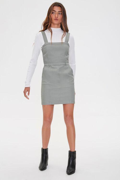 SAGE Pinafore Mini Dress, image 4