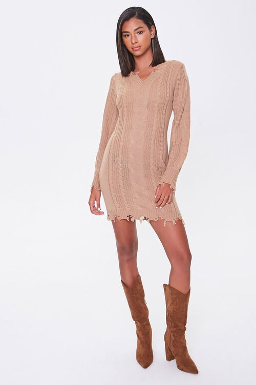 Cable Knit Sweater Dress, image 4