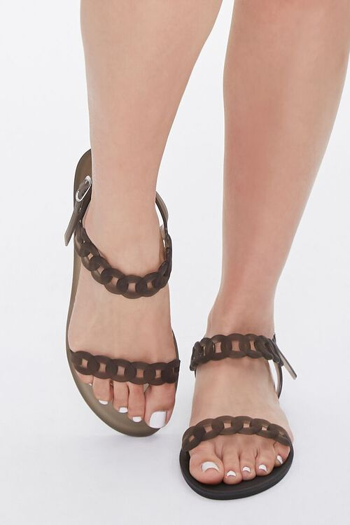Chain-Strap Jelly Sandals, image 4