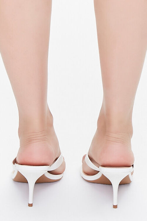 Faux Leather Toe-Thong Heels, image 3