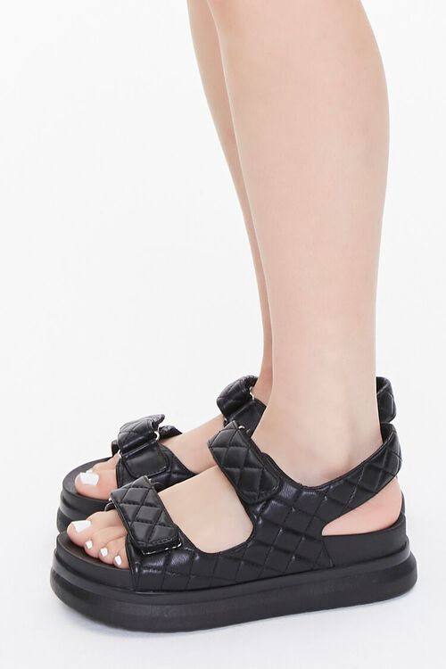 Buckled Quilted Wedges, image 2