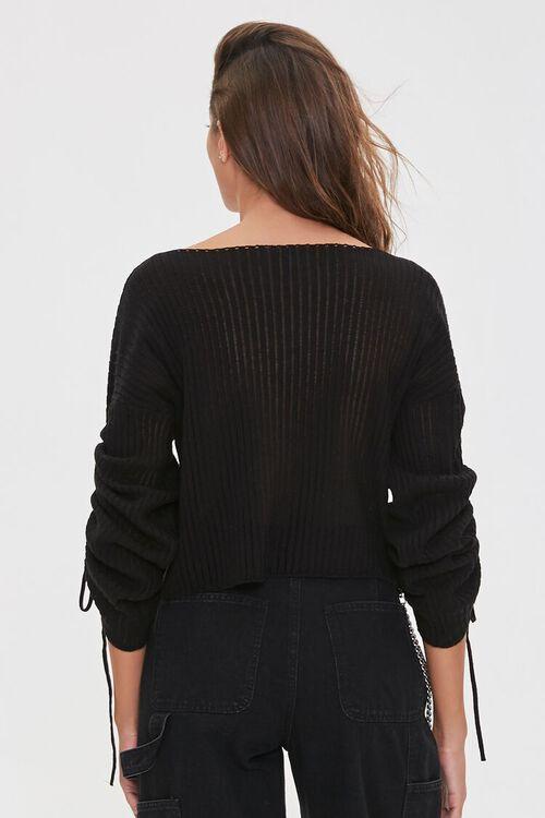 Shadow-Striped Drawstring Sweater, image 3