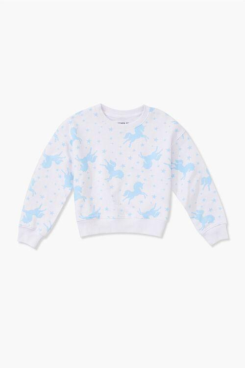 Girls Unicorn Print Sweatshirt (Kids), image 1