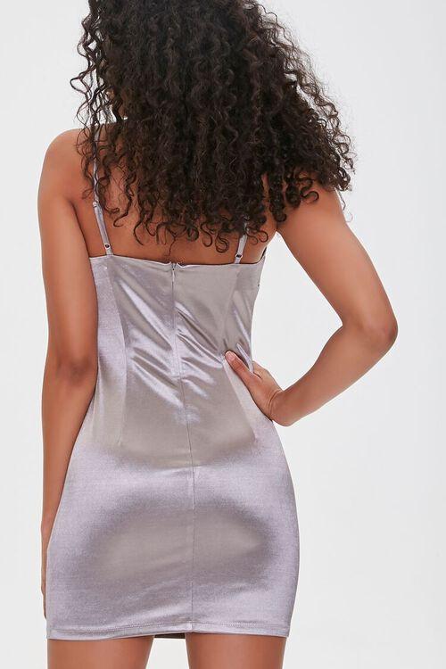 SILVER Metallic Cami Mini Dress, image 3