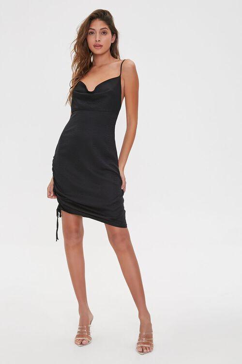 Jacquard Cowl Mini Dress, image 4