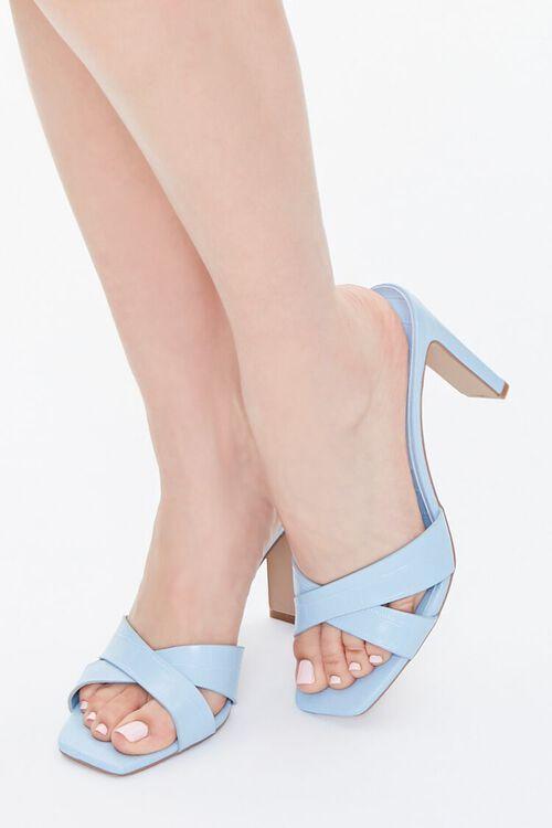 Crisscross Square-Toe Heels, image 1