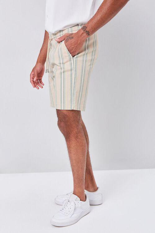 Striped Print Drawstring Shorts, image 3