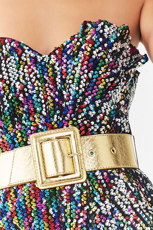 Belted Sequin Tube Dress, image 5