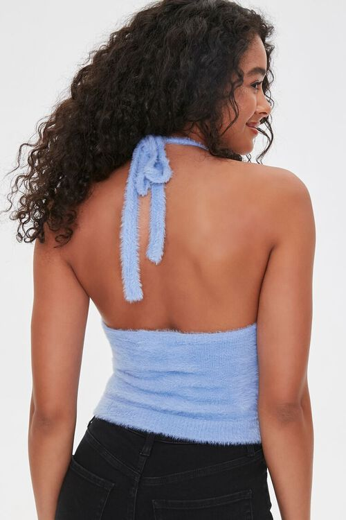 Fuzzy Sweater-Knit Halter Top, image 3