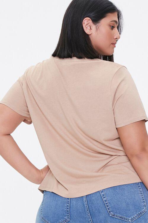 Plus Size Cotton-Blend Tee, image 3