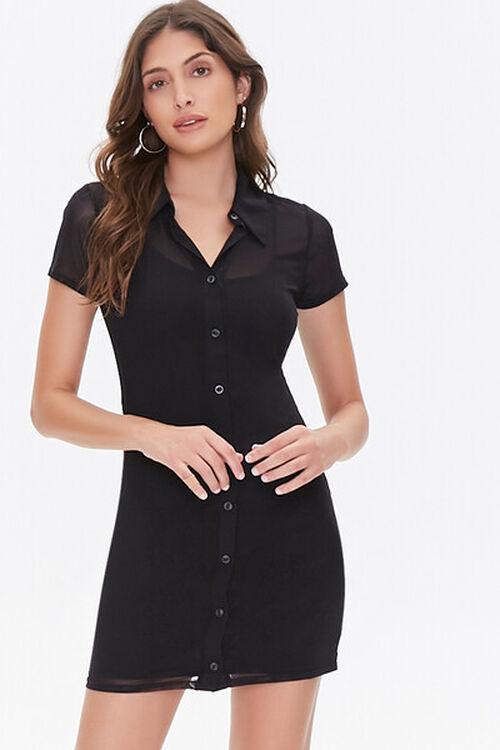 Mesh Shirt Dress, image 1