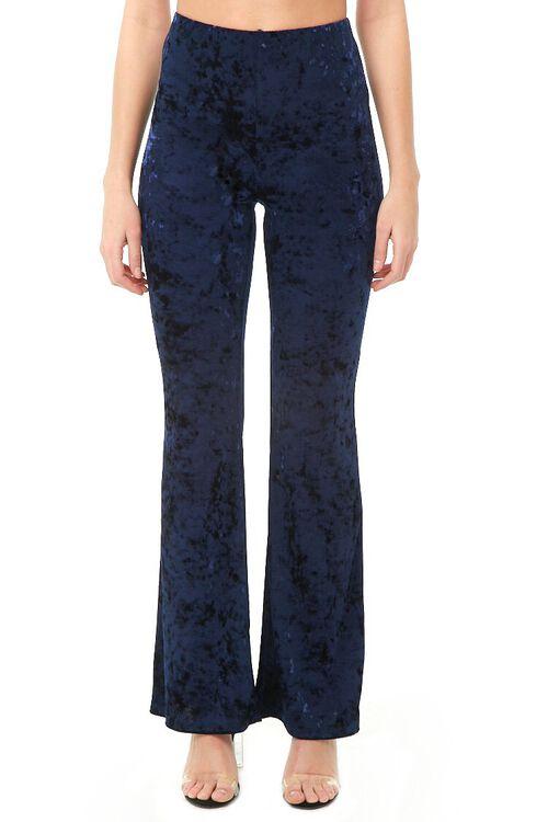 Crushed Velvet Flare Pants, image 2
