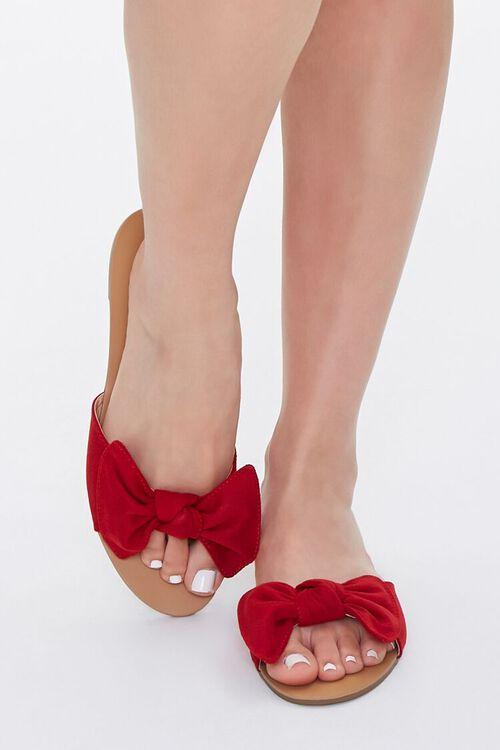 Faux Suede Bow Sandals, image 4