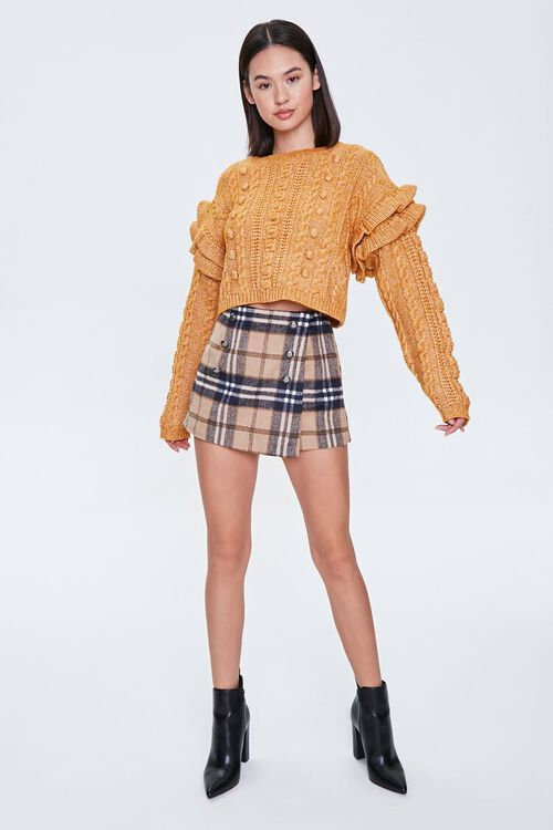 Cable Knit Ruffle Sweater, image 5