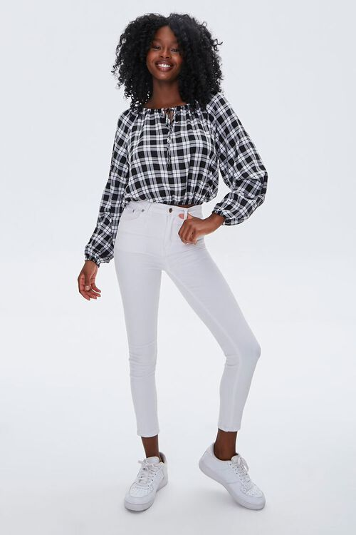Plaid Peasant Top, image 4