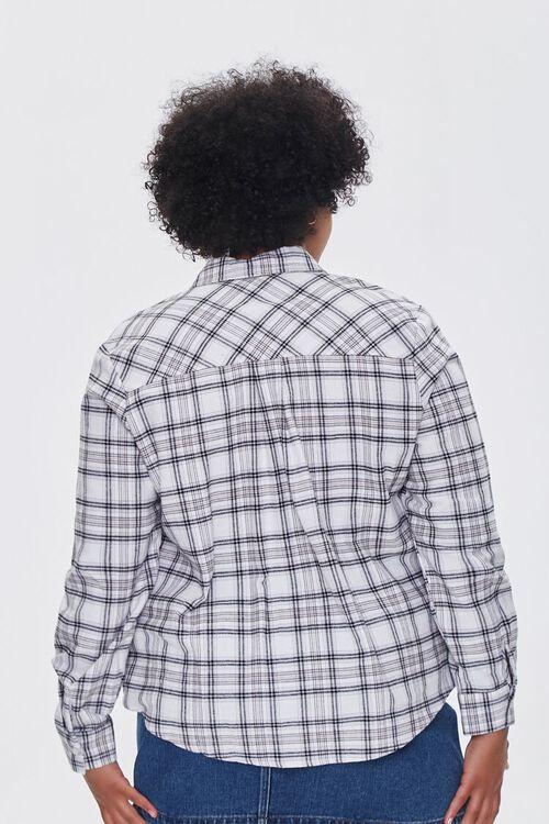 Plus Size Dual-Pocket Flannel Plaid Shirt, image 3