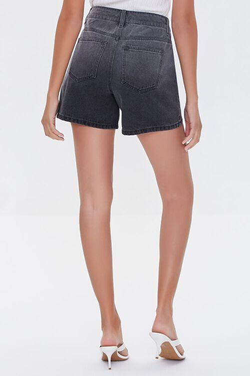 WASHED BLACK High-Rise Denim Shorts, image 4