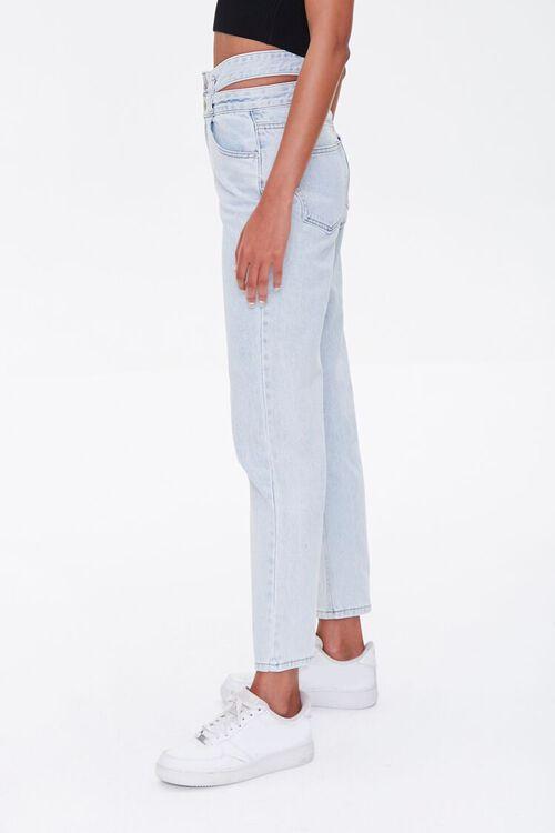 LIGHT DENIM Cutout Straight-Leg Jeans, image 4