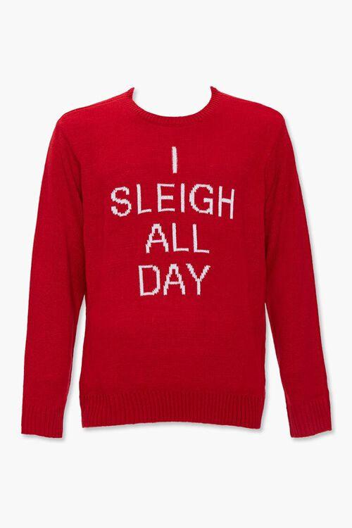 Sleigh All Day Graphic Knit Sweater, image 1