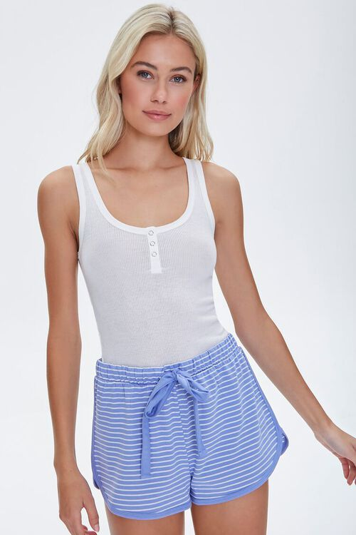 Striped Dolphin Lounge Shorts, image 1
