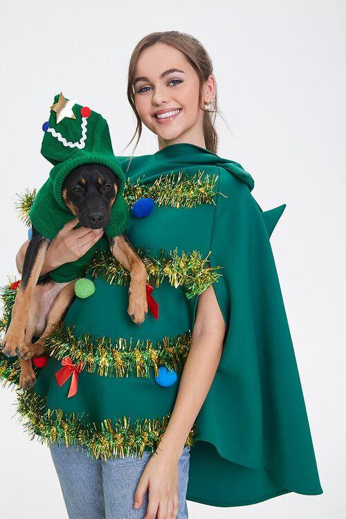 GREEN/MULTI Christmas Tree Dog Sweater, image 3