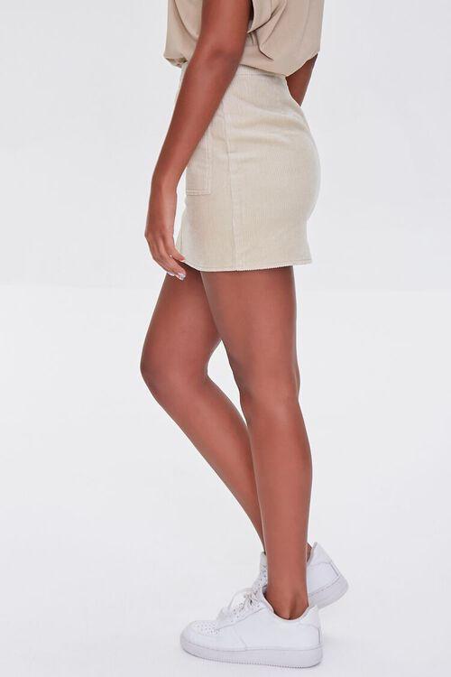 Corduroy Zip-Front Mini Skirt, image 3