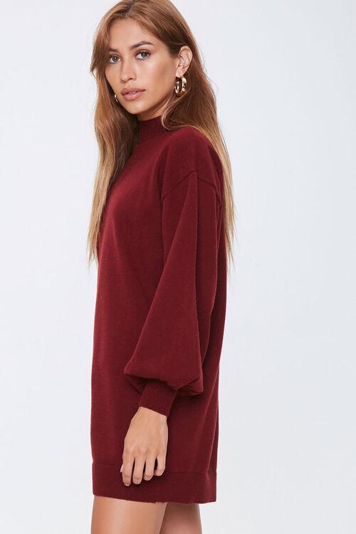 Mock Neck Sweater Dress, image 2