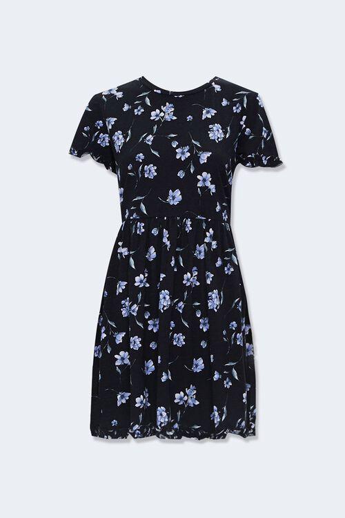 Ruffled Floral Mini Dress, image 1