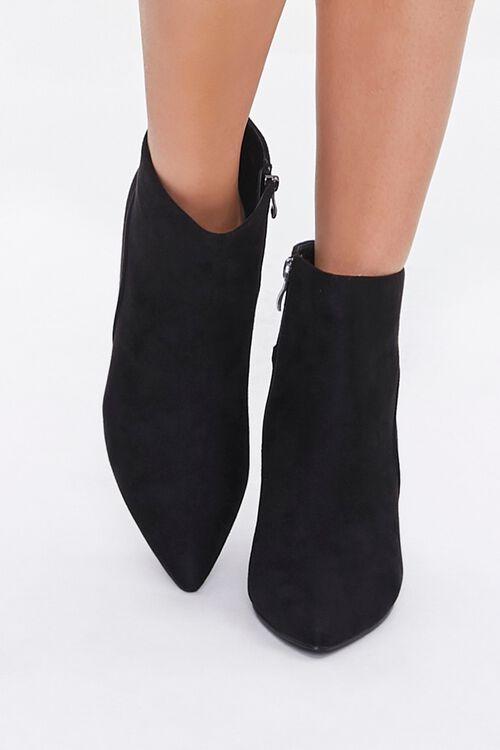 Faux Suede Block Heel Booties, image 4