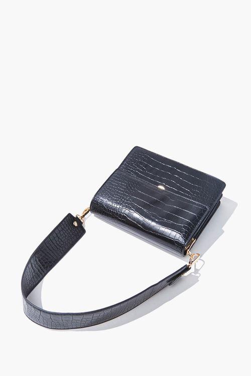 Faux Croc Leather Shoulder Bag, image 3