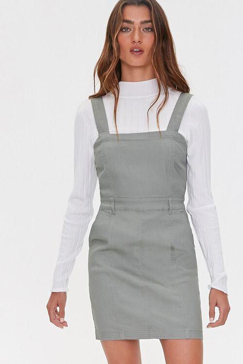 SAGE Pinafore Mini Dress, image 1