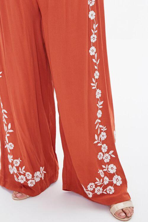 Plus Size Floral Wide-Leg Pants, image 5