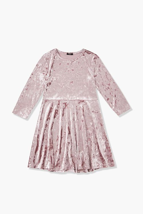 Girls Velvet Skater Dress (Kids), image 1