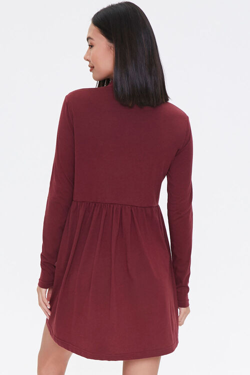 Mock Neck Mini Swing Dress, image 3