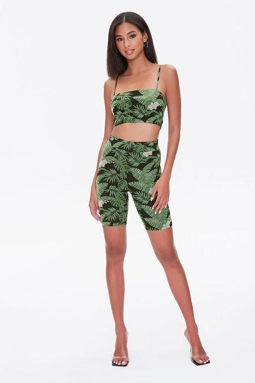 Tropical Leaf Biker Shorts, image 4