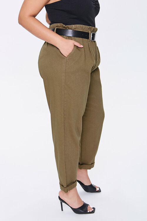 Plus Size Paperbag Ankle Pants, image 3