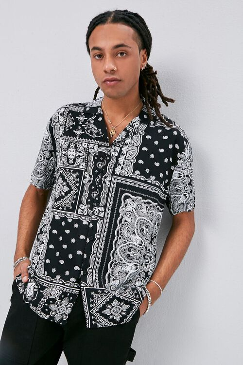 Classic Fit Paisley Print Shirt, image 1