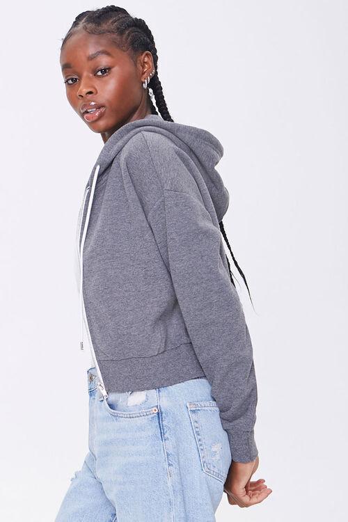 Basic Fleece Zip-Up Hoodie, image 2