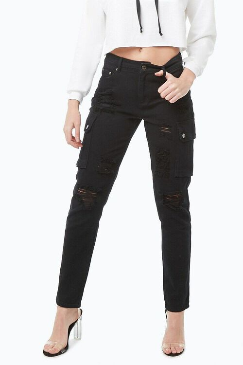 Distressed Boyfriend Jeans, image 1