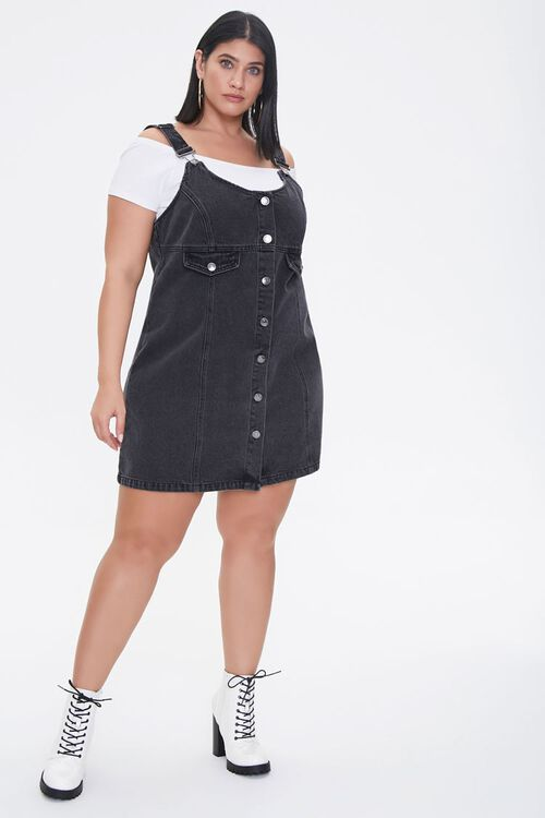 Plus Size Denim Overall Dress, image 4